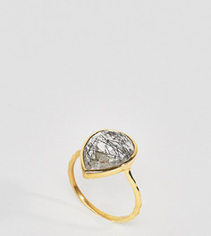 Кольцо с кварцем и покрытием из 14-каратного золота Carrie Elizabeth - Золотой