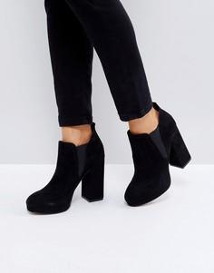 Ботинки челси на платформе ASOS EFAN - Черный