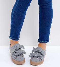Кроссовки с бантиками ASOS DITZY - Серый