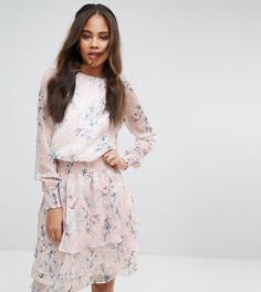 Приталенное платье с принтом Y.A.S Tall - Мульти
