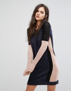 Платье-джемпер из смесовой шерсти Y.A.S New Moment - Серый