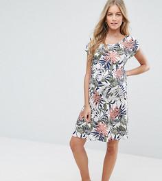 Платье с цветочным принтом Mamalicious - Белый Mama.Licious
