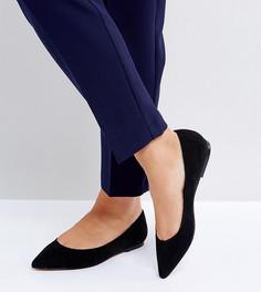 Балетки для широкой стопы с острым носком ASOS LATCH - Черный
