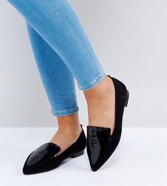 Лоферы для широкой стопы с острым носком ASOS LEES - Черный