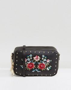 Маленькая сумка через плечо с вышивкой ALDO Moretta - Черный