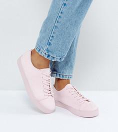 Кроссовки для широкой стопы на шнуровке ASOS DALTREY - Розовый