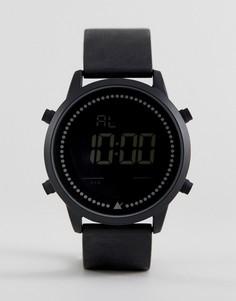Большие монохромные цифровые часы ASOS - Черный