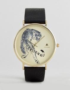 Черные часы с тигром ASOS - Черный