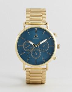 Золотистые часы-браслет с темно-зеленым циферблатом ASOS - Золотой