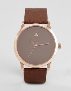 Золотисто-розовые часы ASOS - Коричневый