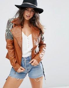 Куртка с гобеленовой отделкой Glamorous - Коричневый