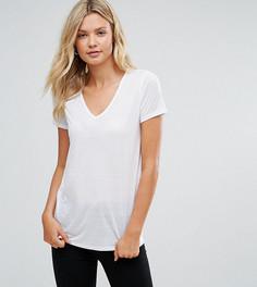 Легкая футболка с V-образным вырезом ASOS TALL - Белый