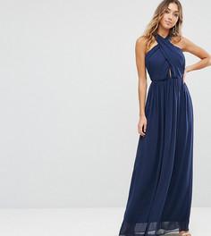 Платье макси из шифона ASOS TALL - Темно-синий