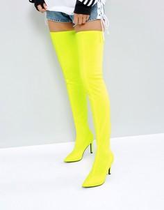Эластичные ботфорты ASOS KITTY - Желтый