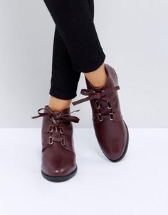 Кожаные ботинки на шнуровке ASOS ALFIRA - Коричневый