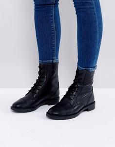 Кожаные ботинки со шнуровкой ASOS ANYWHERE - Черный