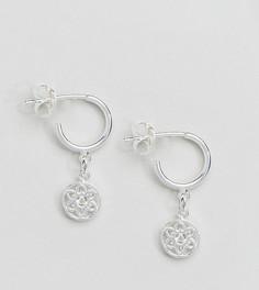 Серебряные серьги-полукольца с подвесками-дисками ASOS - Серебряный