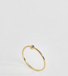 Серебряное кольцо с золотистым покрытием ASOS - Золотой
