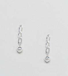 Серебряные серьги с цепочками ASOS - Серебряный