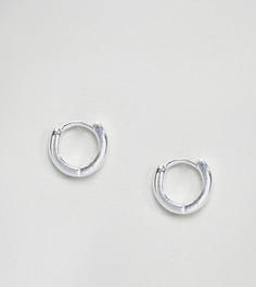 Серебряные серьги-кольца ASOS - Серебряный