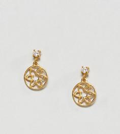 Серьги из позолоченного серебра ASOS - Золотой