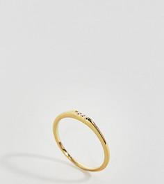 Позолоченное серебряное кольцо с камнями ASOS - Золотой