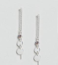Серебряные серьги с тремя дисками ASOS - Серебряный