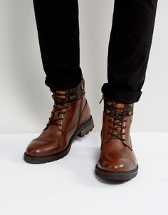 Коричневые кожаные ботинки Tommy Hilfiger Curtis - Коричневый
