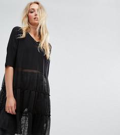 Платье с ярусной юбкой Noisy May Tall - Черный