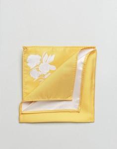 Платок для нагрудного кармана горчичного цвета ASOS - Желтый