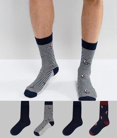 4 пары носков с узорами Jack & Jones - Темно-синий