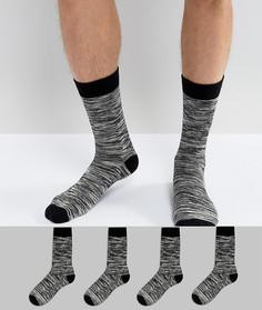 4 пары меланжевых носков Jack & Jones - Серый
