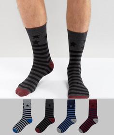 4 пары носков со звездами Jack & Jones - Мульти