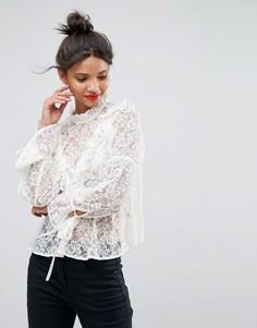Кружевная блузка ASOS - Кремовый