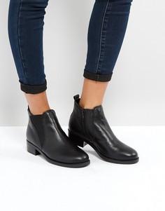 Кожаные ботинки челси New Look - Черный
