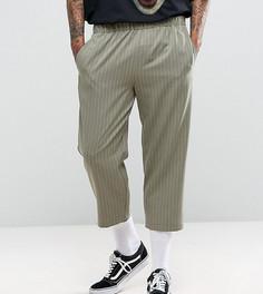 Свободные брюки в полоску Reclaimed Vintage Inspired - Зеленый