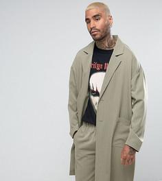 Длинный пиджак в полоску Reclaimed Vintage Inspired - Зеленый