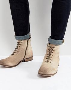 Замшевые ботинки на шнуровке ASOS - Светло-серый