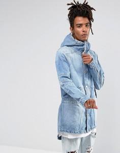Синяя джинсовая парка с подкладкой из искуcственного меха Cayler & Sons - Синий