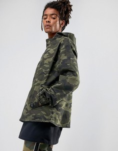 Джинсовая куртка с молнией до груди и камуфляжным принтом Cayler & Sons - Зеленый