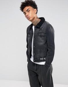 Черная джинсовая куртка с подкладкой из искусственного меха Cayler & Sons - Черный