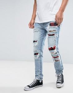 Синие состаренные джинсы скинни Cayler & Sons - Синий