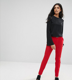 Узкие брюки-сигаретки с ремнем ASOS TALL - Красный