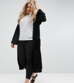 Легкое пальто без застежки ASOS CURVE - Черный