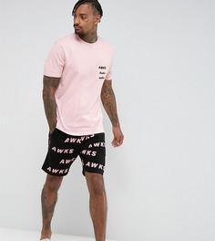 Пижама с принтом ASOS - Черный