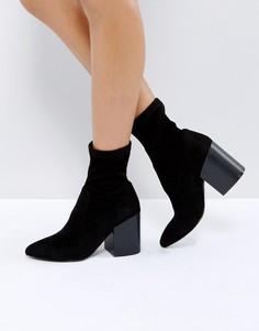 Полусапожки с эффектом носка ASOS ELMO - Черный