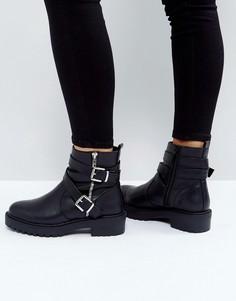 Байкерские ботинки ASOS ACCESS - Черный