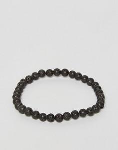 Черный браслет из деревянных бусин Jack & Jones - Черный