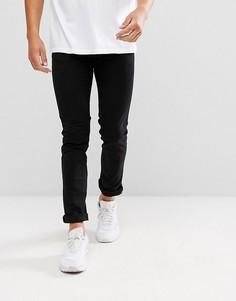 Черные джинсы скинни с нашивками Love Moschino - Черный