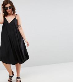 Пляжное платье на бретельках ASOS CURVE - Черный